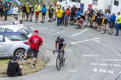 Ο ποδηλάτης Jarlinson Pantano - περιοδεύστε το de Γαλλία το 2015 Στοκ Εικόνα