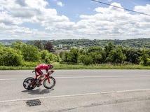 Ο ποδηλάτης Michael Morkov - Criterium du Dauphine 2017 Στοκ φωτογραφία με δικαίωμα ελεύθερης χρήσης