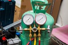 Ο πολλαπλός μετρητής για την υπηρεσία όρου αέρα στοκ φωτογραφία με δικαίωμα ελεύθερης χρήσης