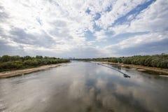 Ο ποταμός Βαρσοβία Vistula Στοκ φωτογραφία με δικαίωμα ελεύθερης χρήσης
