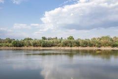 Ο ποταμός Βαρσοβία Vistula Στοκ εικόνα με δικαίωμα ελεύθερης χρήσης