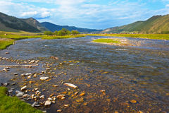 Ο ποταμός βουνών Στοκ Εικόνες