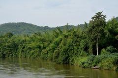 Ο ποταμός για το kanjanaburi στην Ταϊλάνδη Στοκ φωτογραφία με δικαίωμα ελεύθερης χρήσης