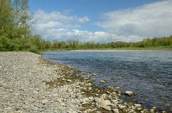 Ο ποταμός ελεύθερα ελιγμού έδωσε το de Πάου Στοκ εικόνες με δικαίωμα ελεύθερης χρήσης