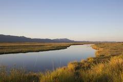 Ο ποταμός Ζαμβέζη στο ηλιοβασίλεμα Στοκ φωτογραφία με δικαίωμα ελεύθερης χρήσης
