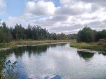 Ο ποταμός καστόρων στο αγρόκτημα Belyakova περιοχής στοκ εικόνες