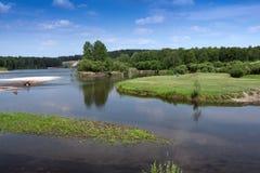 Ο ποταμός στο δάσος Στοκ φωτογραφία με δικαίωμα ελεύθερης χρήσης