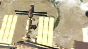 Ο ποταμός του Νείλου και ο Διεθνής Διαστημικός Σταθμός απόθεμα βίντεο
