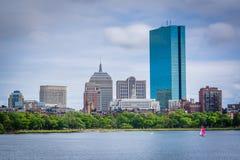 Ο ποταμός του Charles και ο ορίζοντας της Βοστώνης, που βλέπει από το Longfellow Β Στοκ φωτογραφίες με δικαίωμα ελεύθερης χρήσης