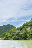 Ο ποταμός τρία Fuchun μικρό τοπίο φαραγγιών Στοκ φωτογραφία με δικαίωμα ελεύθερης χρήσης