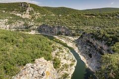Ο ποταμός Ardeche στη νότια Γαλλία, Ευρώπη Στοκ Φωτογραφία