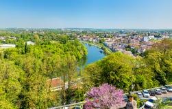 Ο ποταμός Charente στο Angouleme, Γαλλία Στοκ φωτογραφία με δικαίωμα ελεύθερης χρήσης