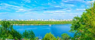 Ο ποταμός Dnipro Στοκ Εικόνες