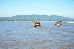 Ο ποταμός Irrawaddy ή ο ποταμός Ayeyarwady είναι ένας ποταμός που ρέει FR Στοκ φωτογραφία με δικαίωμα ελεύθερης χρήσης