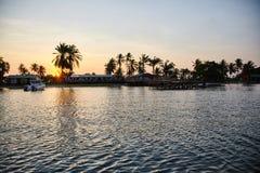 Ο ποταμός Kwanza είναι ο μεγαλύτερος ποταμός στην Ανγκόλα στοκ εικόνες