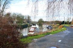 Ο ποταμός Leie (Lys) σε Astene, Βέλγιο στοκ φωτογραφίες με δικαίωμα ελεύθερης χρήσης