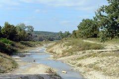 Ο ποταμός Neberjay στην της Κριμαίας περιοχή του εδάφους Krasnodar Στοκ Εικόνες