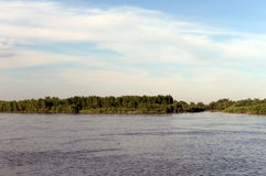 Ο ποταμός Ob κοντά στην πόλη Barnaul Στοκ Φωτογραφία