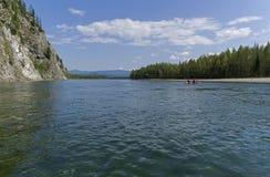 Ο ποταμός Oka Sayanskaya Σιβηρία, Ρωσία στοκ φωτογραφία
