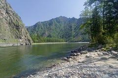 Ο ποταμός Oka Sayanskaya Σιβηρία, Ρωσία στοκ εικόνα με δικαίωμα ελεύθερης χρήσης