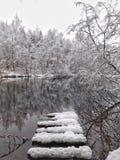 Ο ποταμός Oredezh Στοκ Φωτογραφίες