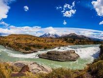 Ο ποταμός Paine Στοκ Εικόνες