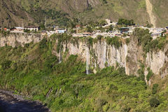 Ο ποταμός Pastaza και η μικρή πόλη Banos στον Ισημερινό Στοκ φωτογραφίες με δικαίωμα ελεύθερης χρήσης