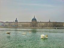 Ο ποταμός Saone παλαιά πόλη της Λυών, Λυών, Γαλλία στοκ φωτογραφίες
