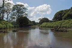 Ο ποταμός Tortuguero βόρειο-ανατολικά της Κόστα Ρίκα Στοκ φωτογραφία με δικαίωμα ελεύθερης χρήσης