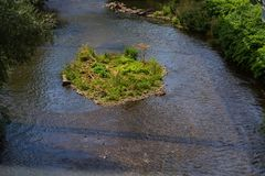 Ο ποταμός Wupper στο Βούπερταλ Στοκ Εικόνα