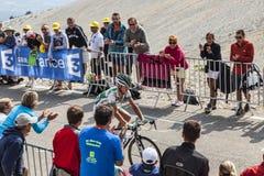 Ο ποδηλάτης Αλέξης Vuillermoz Στοκ Εικόνα