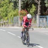 Ο ποδηλάτης Andre Cardoso - Criterium du Dauphine 2017 Στοκ φωτογραφίες με δικαίωμα ελεύθερης χρήσης