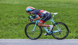 Ο ποδηλάτης Andy Schleck Στοκ Εικόνα