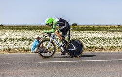 Ο ποδηλάτης Bauke Mollema Στοκ Εικόνα