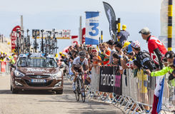 Ο ποδηλάτης John Gadret Στοκ Εικόνες
