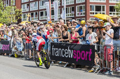 Ο ποδηλάτης Luca Paolini - περιοδεύστε το de Γαλλία το 2015 Στοκ εικόνες με δικαίωμα ελεύθερης χρήσης