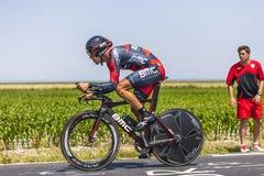 Ο ποδηλάτης Manuel Quinziato στοκ εικόνες