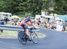 Ο ποδηλάτης Peter Stetina - περιοδεύστε το de Γαλλία το 2014 Στοκ φωτογραφία με δικαίωμα ελεύθερης χρήσης