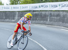 Ο ποδηλάτης Rafal Majka - περιοδεύστε το de Γαλλία το 2014 Στοκ φωτογραφίες με δικαίωμα ελεύθερης χρήσης