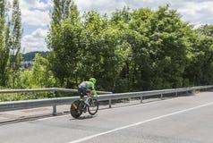 Ο ποδηλάτης Sebastian Langeveld - Criterium du Dauphine 2017 Στοκ φωτογραφίες με δικαίωμα ελεύθερης χρήσης