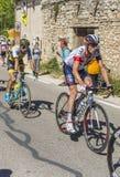 Ο ποδηλάτης Stef επιεικής σε Mont Ventoux - περιοδεύστε το de Γαλλία το 2016 Στοκ Εικόνες