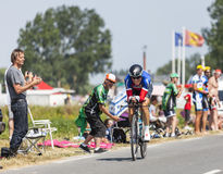 Ο ποδηλάτης Sylvain Chavanel Στοκ φωτογραφία με δικαίωμα ελεύθερης χρήσης