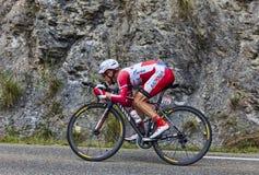 Ο ποδηλάτης Yuri Trofimov Στοκ εικόνα με δικαίωμα ελεύθερης χρήσης