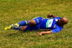 Ο ποδοσφαιριστής ασκεί τη φωτογραφία Στοκ Φωτογραφίες