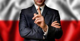 Ο πολωνικός υποψήφιος μιλά στο πλήθος ανθρώπων στοκ εικόνες με δικαίωμα ελεύθερης χρήσης