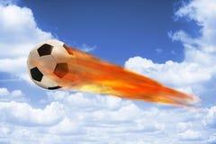 2$ο ποδόσφαιρο γραφικής παράστασης πυρκαγιάς σχεδίου υπολογιστών σφαιρών Στοκ εικόνα με δικαίωμα ελεύθερης χρήσης