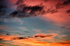 Ο πολύχρωμος ουρανός Στοκ Εικόνες