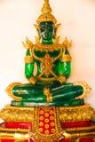 Ο πράσινος και χρυσός Βούδας στην Ταϊλάνδη Στοκ Εικόνες