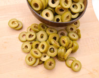 ο πράσινος σωρός ελιών τε&mu Στοκ φωτογραφία με δικαίωμα ελεύθερης χρήσης