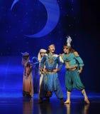Ο πρίγκηπας και το φεγγάρι μπαλέτου γενειάδα-Hui συνεργατών του πέρα από Helan Στοκ Φωτογραφίες